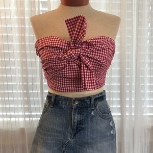 Forever 21 NWT Gingham Crop Top